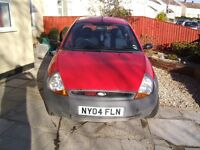 Ford Ka 58,800 miles. MOT until Sept 2017. 4 new tyres. 1 owner for last 9 years