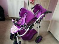 Twin doll pushchair