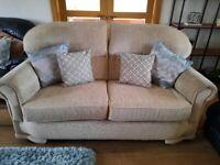 3&1 cream sofa & chair