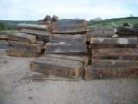 """oak blocks solid large untreated 5ft long x 12"""" square"""