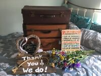 Wedding job lot stuff for sale gumtree vintage and rustic wedding decorations job lot suitcases flowers signs junglespirit Image collections