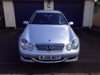 Mercedes-Benz C Class 2.1 Silver C220 CDI SE 2dr Auto 2007, 78450 miles 2 New Rear Tyres, MOT Feb 18