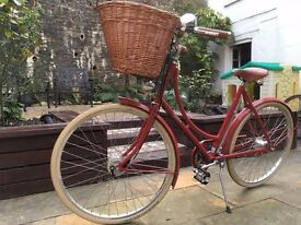"Pashley Britannia 5 Speed 20"" Ladies Bicycle - Royal Red - Perfect Condition"