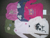 Bundle of 6 Long Sleeve Tops for Girl 6-7 years. In good condition. Mostly 100% cotton.