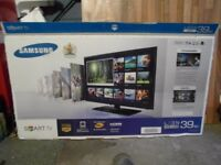 New Samsung 40 inch smart tv with new Panasonic smart blu-ray player plus dvd's