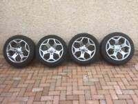 Alloy wheels and winter tyres for sale