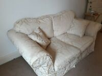 Soft two-seater sofa WITH matching cushions