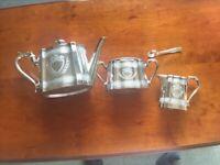 3 piece silver plated tea service. EPBM. £40 Ono.