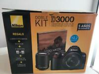 Nikon D3000 with two lenses and case - ALMOST NEW!!