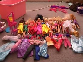 Dolls with clothes