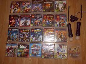 PS3: 21 games+ 2x move controller+ camera