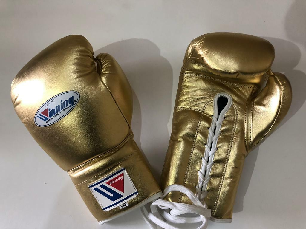 New custom made golden winning boxing gloves,grant boxing gloves,print any  name or logo on it | in Brick Lane, London | Gumtree