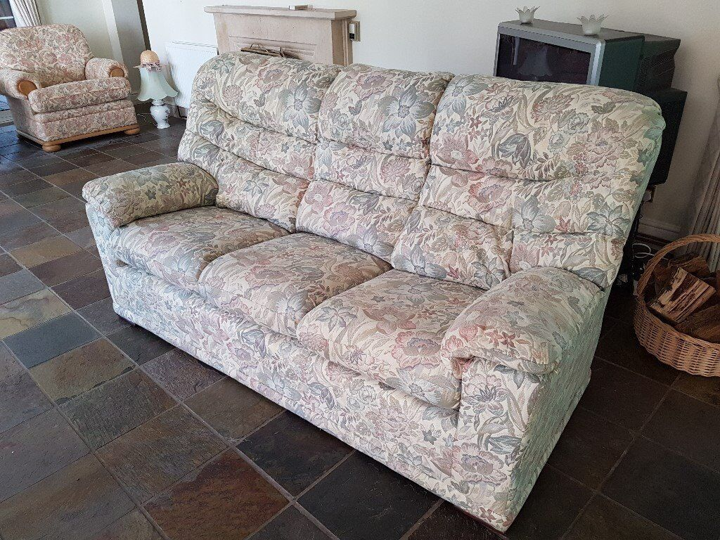 G Plan Malvern 3 Seater Sofa Settee Fl Printlounge Furniture Immaculate Cond