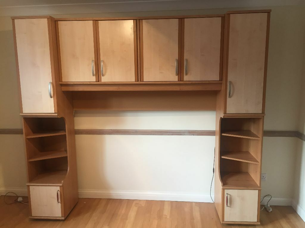 Overbed Bedroom Furniture Caxton Bedroom Overbed Unit With Cupboards Twin Bedside Table