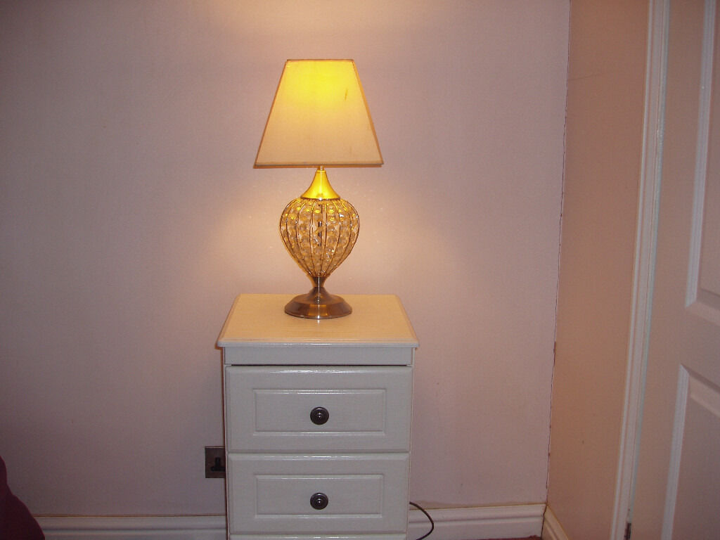 bedside cabinet including lamp