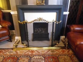 ELGIN AND HALL STONE FIRE PLACE AND GAS FIRE