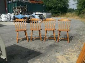 4x heavy quality pine chairs