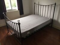 FREE metal double bed frame - Habitat