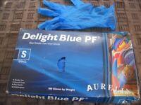 100 BLUE POWDER FREE VINYL GLOVES SIZE S