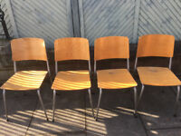 Adult wooden stacking chairs - 15 available at £20 each feel free to view free local delivery