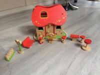 Miniature wooden dolls house