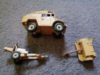 Corgi Quad Gun Tractor ammunition trailer and field gun