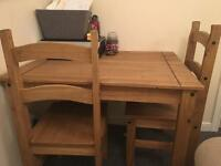 Corona Dining Table and Four Chairs