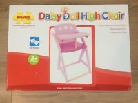 New Daisy Doll Wooden Highchair