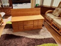 Solid wood NEXT coffee table / chest