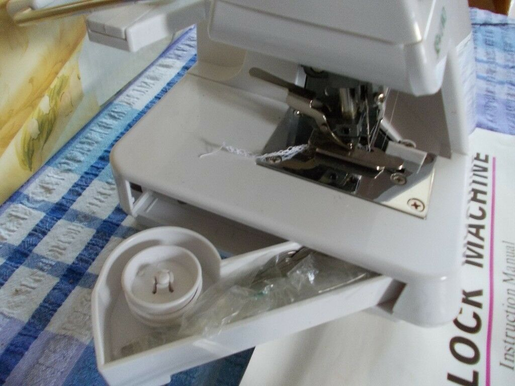 Sewland Electric Overlock Overlocking Sewing Machine In Long Eaton