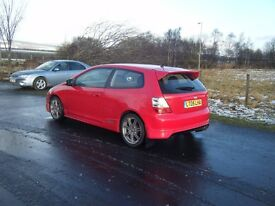 2005 FACELIFT HONDA CIVIC 1.6 16V SPORT FSH LOW MILES TYPE R PARTS NO OFFERS