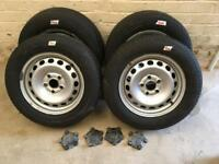 4 VW Caddy Van Wheels and tyres