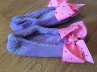 Girls Jojo bow slippers