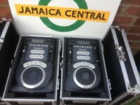 1 PAIR NUMARK AXIS 9 DJ CD PLAYER PACKED WITH FEATURES COMES WITH FLIGHT CASE VERY GOOD CONDITION