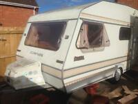 Compass omega 4 berth birth caravan with 2 awnings