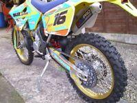 SUZUKI rm 250 enduro supermoto motocross drz 400 race trail bike off road legal crf ktm cr yz husky