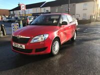 Skoda Fabia 1.2 Petrol Manual 5 Door Hatchback Red 2013 Stunning Car