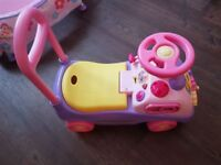 Ride on pink car