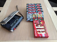 Sony TCM-200DV Portable Voice Recorder/Dictaphone with five tapes (As New)