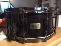 Tama SLP Power Maple Shell Snare Drum, Midnight Maple Burl