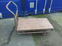 FOUR WHEELED GOODS TROLLEY