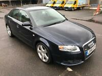 56 AUDI A4 S-LINE 2.0TDI,VERY LOW MILES 58000 SERVICE HISTORY,DRIVES EXCELLENT,3 KEYS,LONG MOT