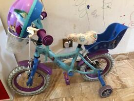 Girls 12inch frozen bike