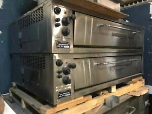 BAKERS PRIDE ELECTTIC PIZZA OVENS - DOUBLE STACKED