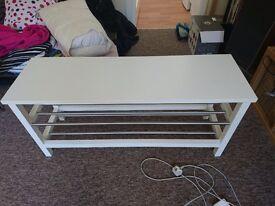 Ikea shoe rack white