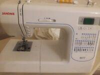 Janome 8077 computerised sewing machine.