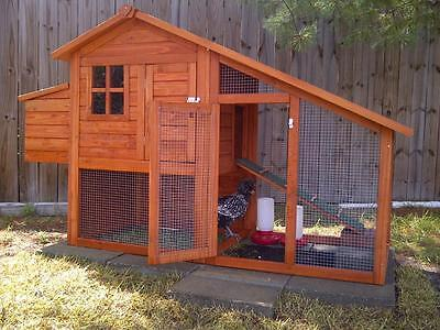 Chicken Coop Hen House Poultry Rabbit Box Hutch Nesting Cage Pen Wooden Run Pet