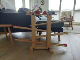 Trihorse wooden marble run (age 1 +) - in very good condition