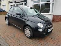 Fiat 500 dualogic (auto) black 2011 *start/stop only 44,000 miles *years MOT*