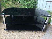 Glass tv stands x 2